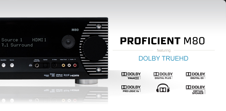 Proficient M80 featuring Dolby TrueHD