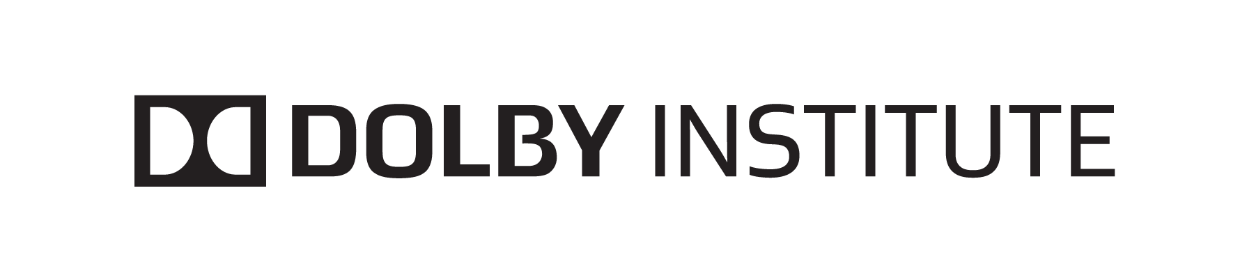 Dolby Institute Horizontal Black PNG
