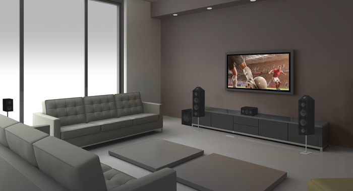 Home cinema with dolby atmos